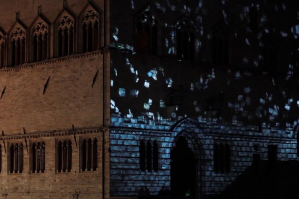 Video mapping Perugia